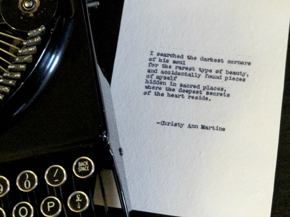 Romantic Gifts for Him - Hand Typed Love Poem - Anniversary Gift for Husband or Boyfriend