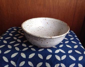 Speckled White Bowl