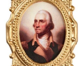 DOLLHOUSE MINIATURES Framed Portrait #TIN0001-TIN0002-TIN0002A-TIN0003-TIN0004