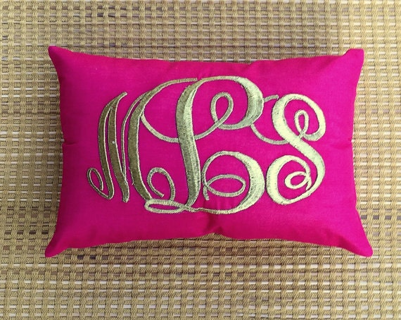 Decorative Monogram Pillow : 30%OFF Sale Monogram Pillow Decorative Custom by NeaPillows