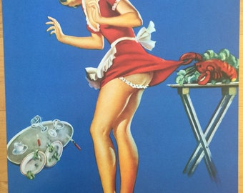 Fresh Lobster Vintage 40's style pin up girl poster retro 24 x 36 inches