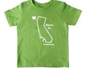 California Baby, California State Born in T-Shirt , California Kids Graphic Tee
