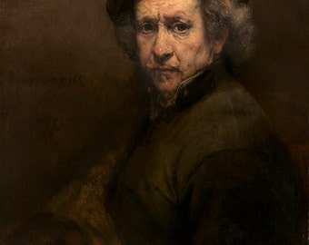 Rembrandt: Self Portrait. Fine Art Print/Poster. (003944)