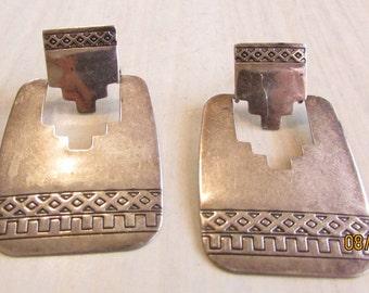Sterling Silver Dangle Post Earrings Q T