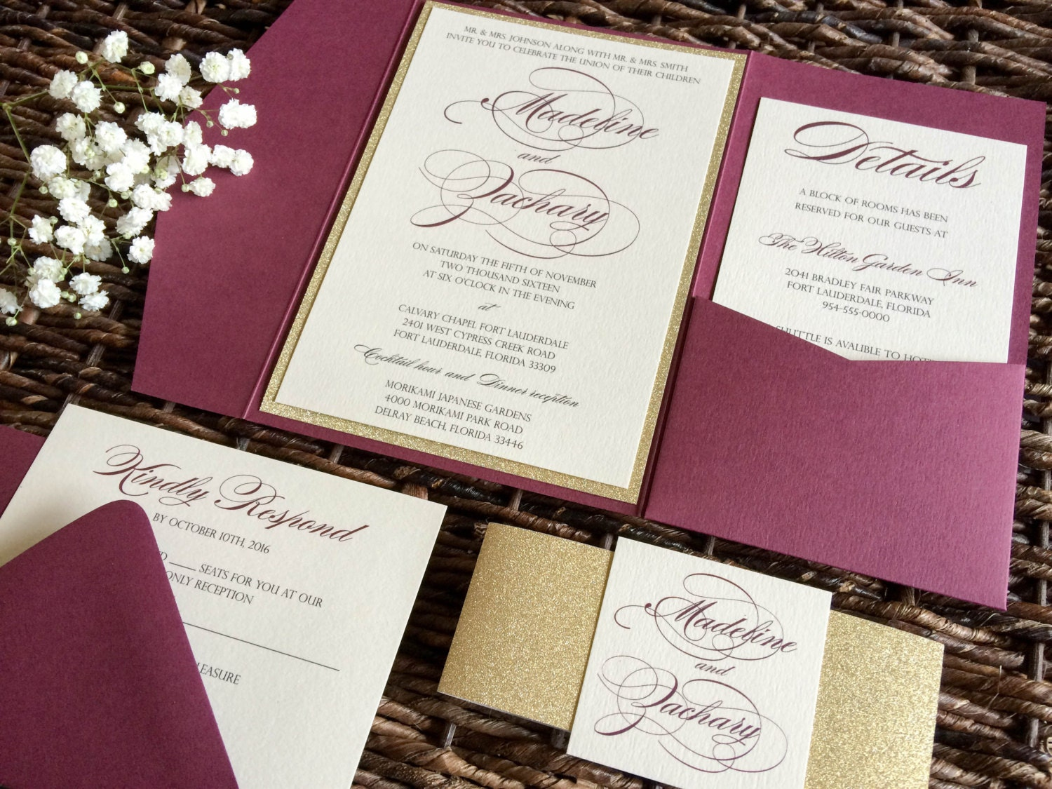 maroon and gold wedding invitations - 28 images - chagne and ...
