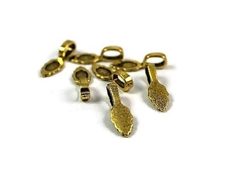 Bail, Gold Bail, Antique Gold Bail, Glue on Bail   10pcs