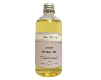 Organic Mother's Massage Oil | 100% Organic Pregnancy Oil | Organic Massage Oil | Organic Bath Time | Vegan Friendly | Cruelty Free | 100ml