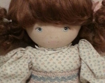 Pauline Bjonnes Jacobson ( Doll by Pauline) Vintage 1980's Cloth Doll 20""