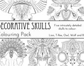 Decorative Skulls Colouri...