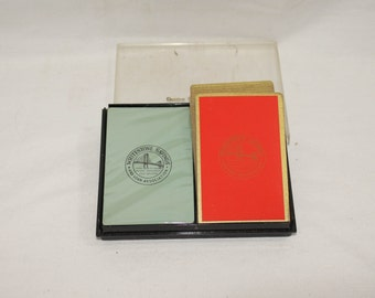 """NOS """"Whitestone Savings""""  Double deck Playing Cards"""