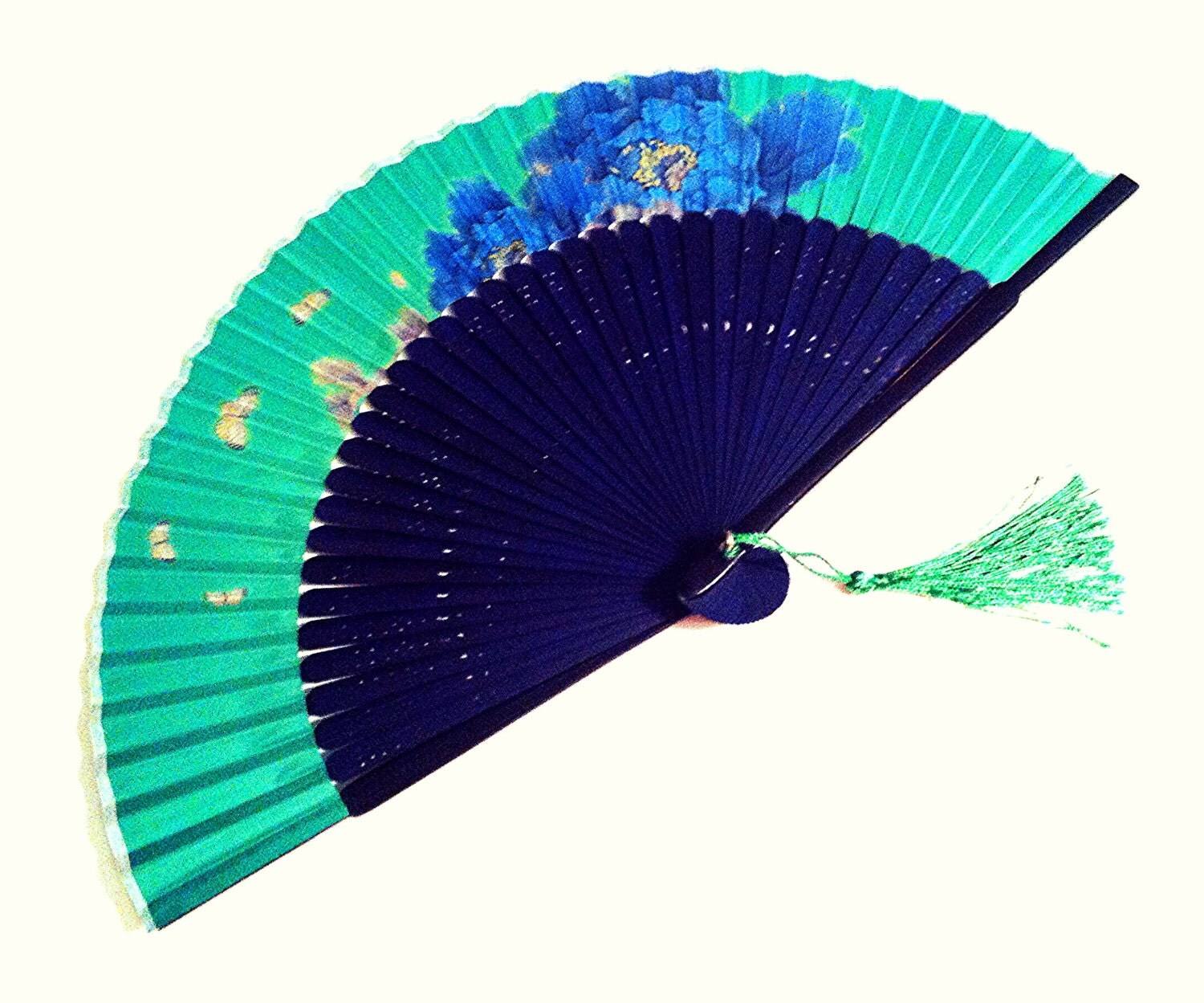 Hand Held Fans : Wedding favor japanese fan hand held folding handfan