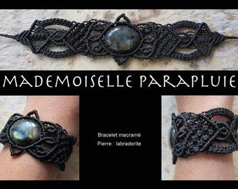 petal black macrame pierre labradorite pulsara macrame bracelet macrame bracelet