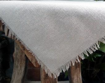"""20"""" x 20"""" Burlap / Cotton Linen Squares With Fringed Edges One Dozen"""