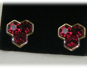 FAUX RUBY EARRINGS . . Classy