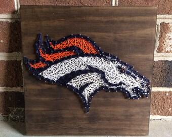 Denver Broncos Wall Decor denver broncos sign | etsy
