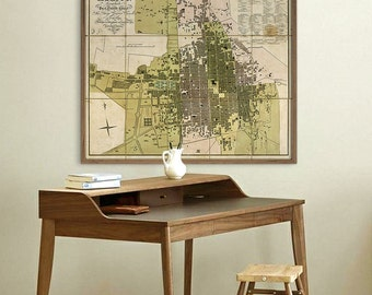 "Map of Mexico City 1811, Old Mexico City map in 5 sizes up to 43x36"" (110x90cm) Historical map Ciudad de Mexico - Limited Edition of 100"