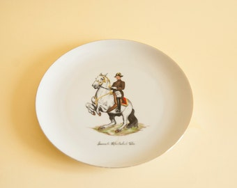VINTAGE Ceramic Plate / Hand panted Serving dish / Vintage Austrian Platter / Arsberg hand panted plate