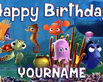 Disney Nemo Birthday Banner