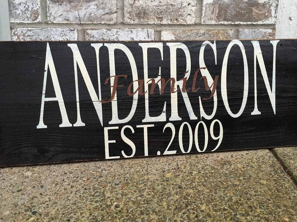 Personalized Family Sign Home Decor Signs Home by RedRoanSigns