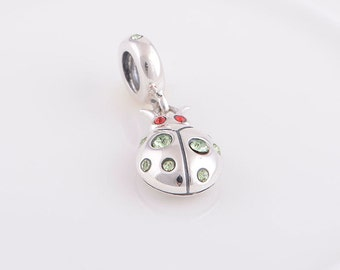 Lady Bug charm With Swavorski Crystals