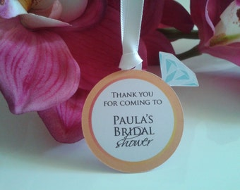 Bridal shower tag - WEDDING RING