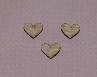 Wooden Hearts Set of 4 Laser Cut Earring, Craft Supplies