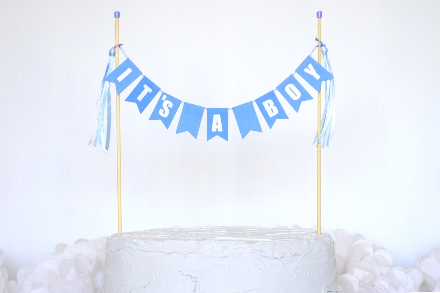 Cake Toppers Baby Shower Etsy : Baby Shower Cake Topper Boy It s A Boy Cake by AvalonSunshine