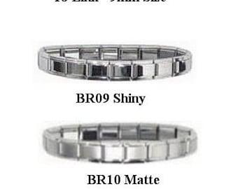 Italian Charm Starter Bracelets 18 Link 9mm Size Colored, Silver, Gold!