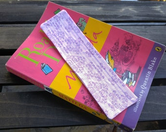Purple Quilted Bookmark