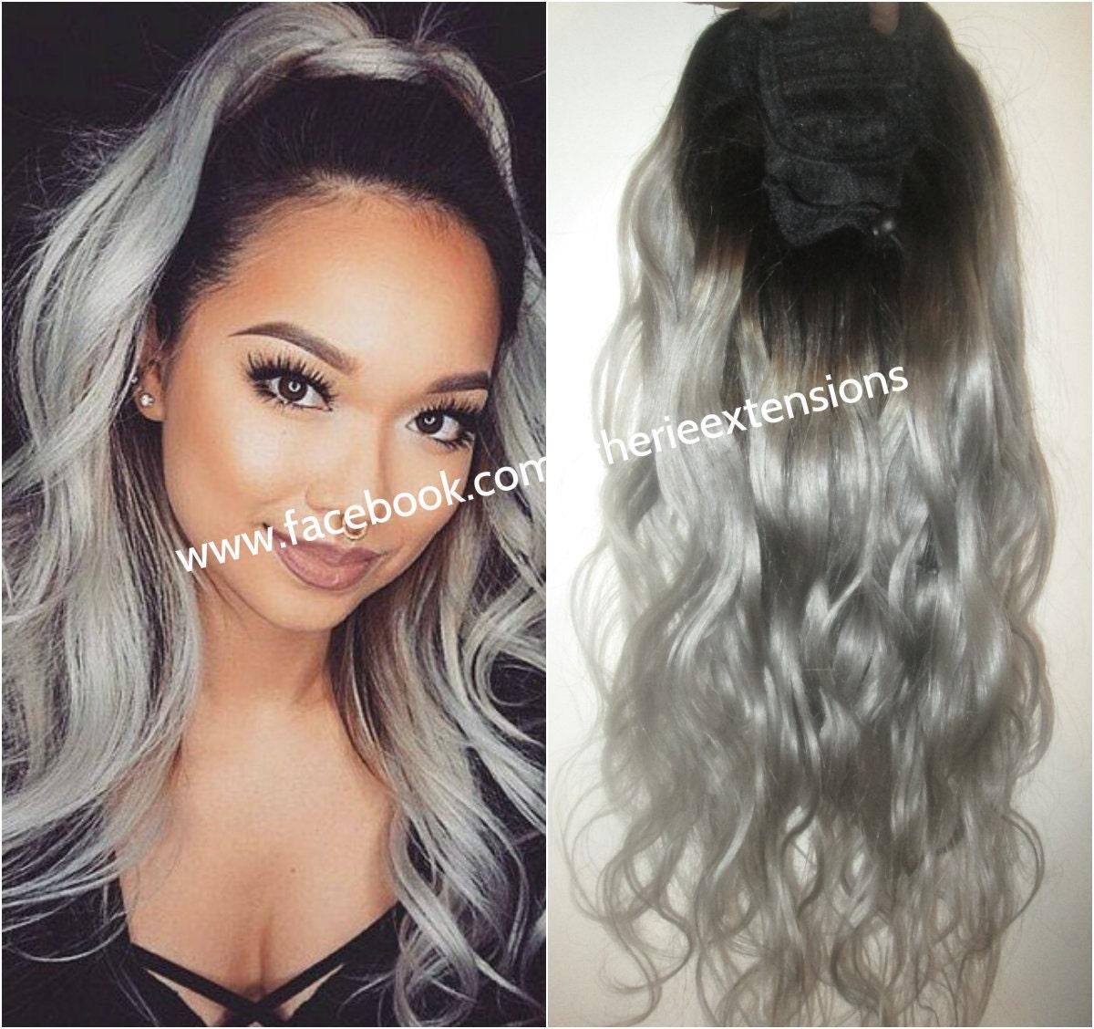 Balayage dip dye 8a remy human hair drawstring ponytail hair zoom pmusecretfo Images