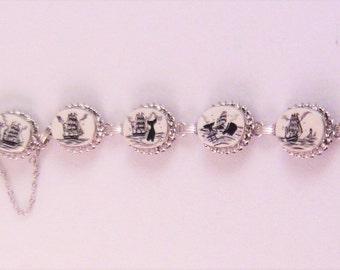 Vintage Scrimshaw Bracelet