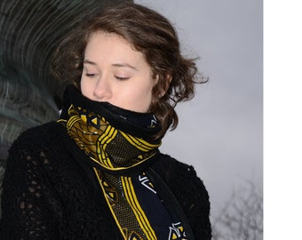 Mustard scarf print