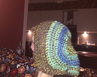 Super size rasta hat - dreads - tam - extra large - slouch beanie