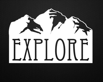 Explore decal........Adventure, Lost, Camping, Hiking, Travel, Bumper, Sticker, Decal......Cool!