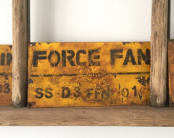 Salvaged Factory Sign