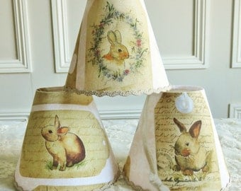 A superb rabbit Lampshade 11 x 13 cm / 4.3 x 5.1 ins for Wall Light, sconce or ceiling chandelier
