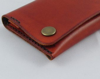 leather tobacco pouch red
