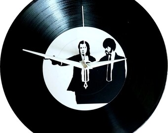 Pulp Fiction Vinyl Record Handmade Wall Clock, Samuel L Jackson, Movie clock, Quentin Tarantino, Modern clock, John Travolta, Decor