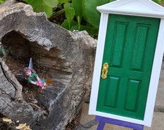 Tooth Fairy Door Green Celebration Enchanted Loose Tooth Fairy Dust