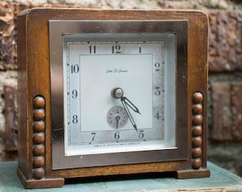 English 1930's Art Deco Mantel Clock