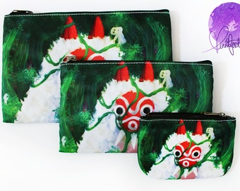 Princess Mononoke, Miyazaki, Studio Ghibli - Small Medium Large Pouch Coin Purse 3DS Pencil Case