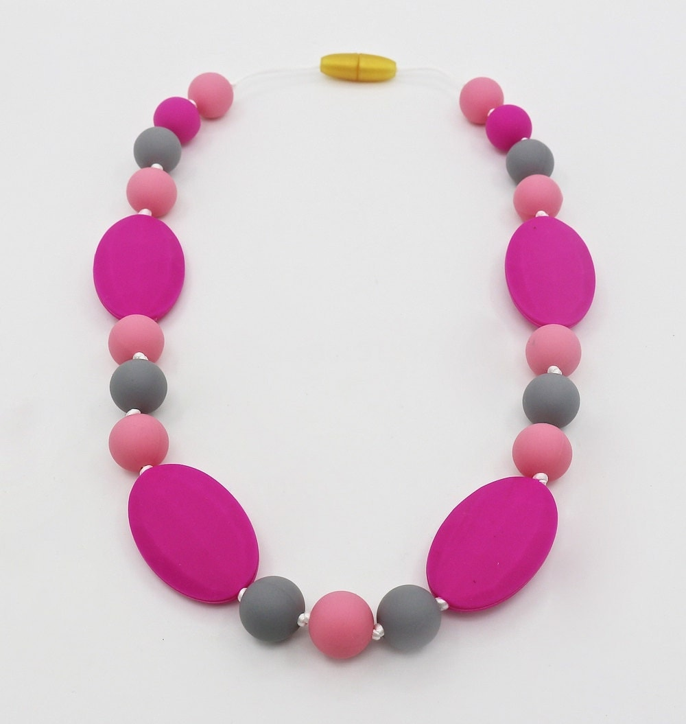 silicone teething necklace baby silicone teething necklace