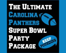 The Ultimate Panthers Party Package - Printable Photo Booth Props and Decorations - Over 50 Pages in PDF Format - INSTaNT DOWNLoAD