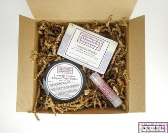 Lavender Body Butter Gift Set / Body Butter Gift Set / Soap Gift Set / Lavender Bath and Body Gift Set / Gift Set Lavender / Lavender Set