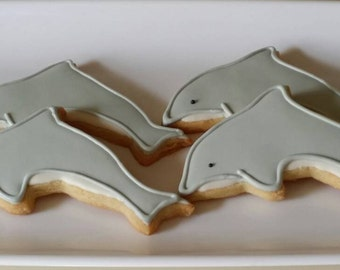 Dolphin Cookies,  Ocean life Cookies,  Sea life Cookies, Under the sea party favors