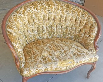 Antique Settee Before Frame-Customize to exactly what you want