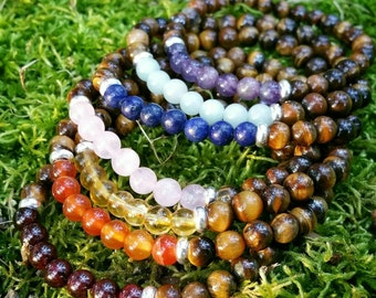 All That Life Has To Offer - Meditation Bracelet Chakra Stack - Yoga Inspirational Spiritual Buddhist Healing Crystals