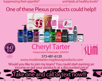 Plexus Leopard Product tear off flyer-with new Accelerator Bottle--digital file only--Compliance Code 74514AO