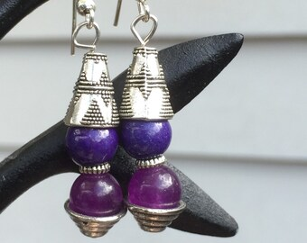 Purple Gem earrings