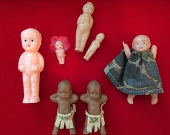 Lot of 7 1960's Celluloid Carnival Prize Toy